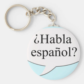 ¿Español de Habla del ¿? ¿Usted habla español? Llavero Redondo Tipo Pin
