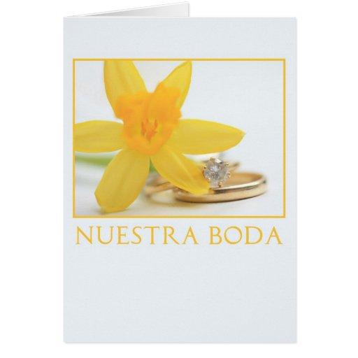 Español de la invitación del boda del narciso tarjeta