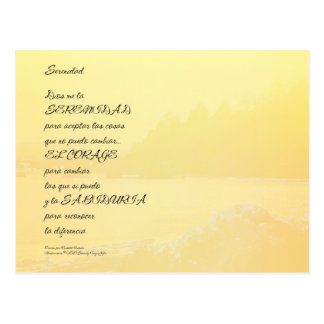 Español de oro de la orilla del rezo de la serenid tarjetas postales