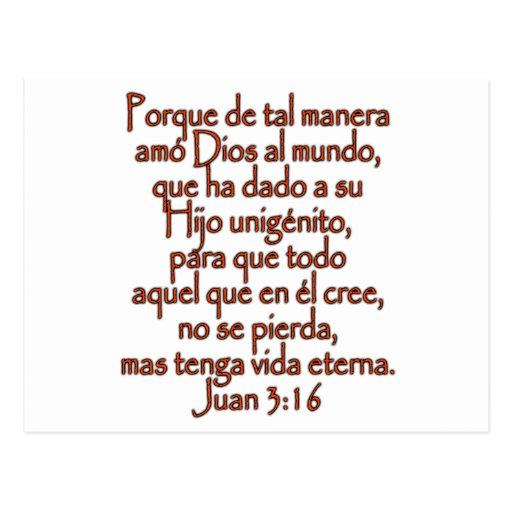 Español del 3:16 de Juan Postal