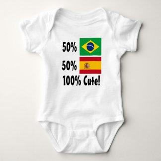 Español del brasilen@o el 50% del 50% el 100% body para bebé