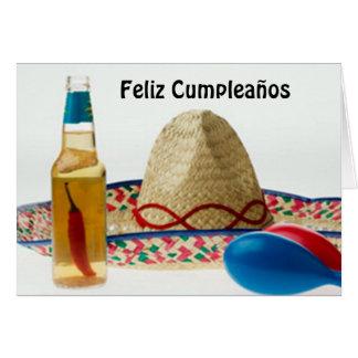 ESPAÑOL DEL CUMPLEAÑOS DE FELIZ CUMPLEANOS-HAPPY TARJETA DE FELICITACIÓN