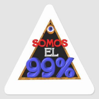 Español del EL el 99% de Somos somos el 99 por cie Calcomanías De Triangulos