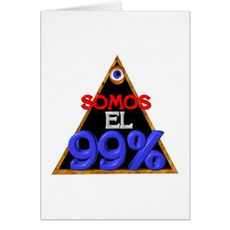 Español del EL el 99% de Somos somos el 99 por cie Tarjeton