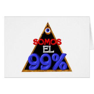 Español del EL el 99% de Somos somos el 99 por cie Tarjetas