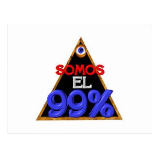 Español del EL el 99% de Somos somos el 99 por cie Tarjetas Postales