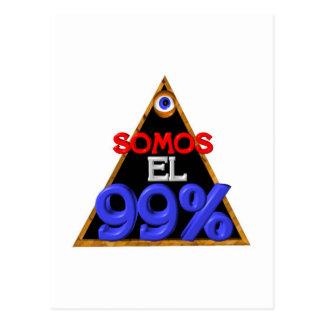 Español del EL el 99% de Somos somos el 99 por cie Tarjeta Postal