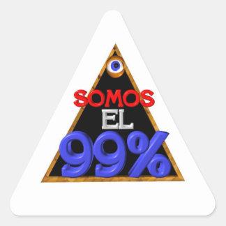 Español del EL el 99% de Somos somos el 99 por Pegatina Triangular