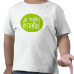 español del hablo del yo camisetas