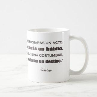 Español del profesor taza básica blanca