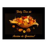Español: Dia de Accion de Gracias Postales
