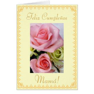 Español: El cumpleaños Cumpleanos/mamá de la mamá Tarjeta De Felicitación