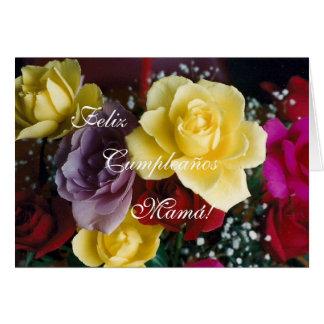 Español: El cumpleaños de la madre de Cumpleaños/M Tarjeta De Felicitación