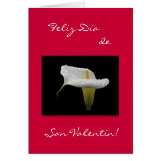 Español: El día de San Valentín de la cala Tarjeta De Felicitación