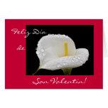 Español: El día de San Valentín/Dia de San Valenti Tarjeta De Felicitación