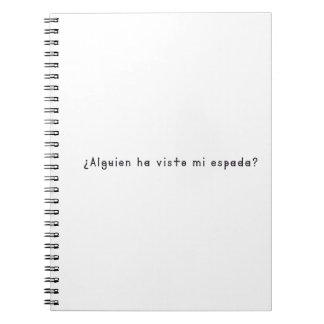 Español-Espada Spiral Notebooks