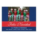 Español-Feliz Navidad/navidad español Invitación 12,7 X 17,8 Cm