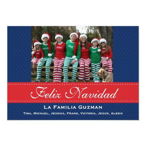 Español-Feliz Navidad/navidad español Anuncio Personalizado