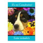 Español: Fiesta de cumpleaños - Invitación Invitación 8,9 X 12,7 Cm