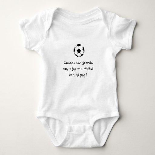 Español: futbol del bebé y/bebé del fútbol playera