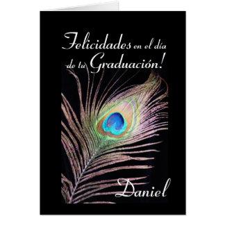 Español: Graduacion de Daniel Tarjeta De Felicitación