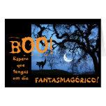 Español: Halloween/Dia de las Brujas Tarjetas