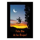 Español: Haloween Dia de las Brujas Tarjeta De Felicitación