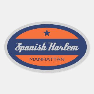 Español Harlem Calcomania De Oval