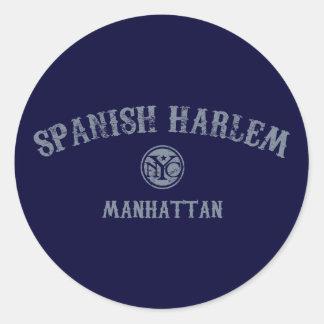 Español Harlem Etiqueta Redonda