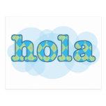 Español - Hola con el modelo del argyle Tarjetas Postales
