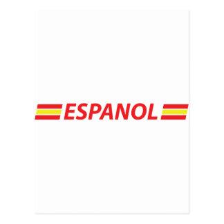 espanol icon postcard