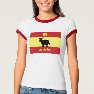 Español lindo Bull, Sun y bandera Poleras