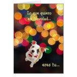 Español: Lo único que quiero para el navidad… es Tarjeta De Felicitación