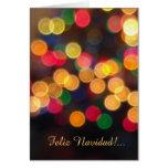 Español: navideñas de los lux - luces de navidad tarjeta de felicitación