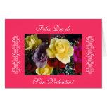 Español: rosas para San Valentin/el día de San Tarjeta De Felicitación