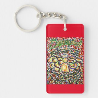 Español Serenity Prayer Angel Art Key Chain