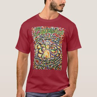 Español Serenity Prayer Angel Art T-Shirt Clothing
