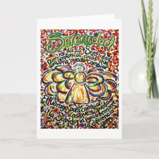 Español Serenity Prayer Angel Greeting Note Cards