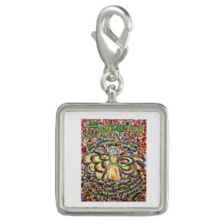 Español Serenity Prayer Angel Pendant Charm