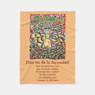 Español Serenity Prayer Poem Angel Fleece Blankets