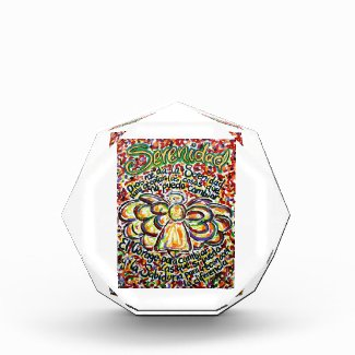 Español Serenity Prayer Poem Angel Paperweight Acrylic Award