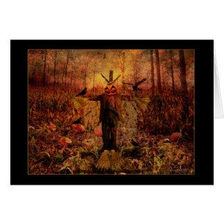 Espantapájaros de la cosecha - Samhain que Tarjeta De Felicitación