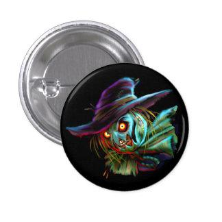 Espantapájaros de ScaryCrow con el botón de los Pin Redondo De 1 Pulgada