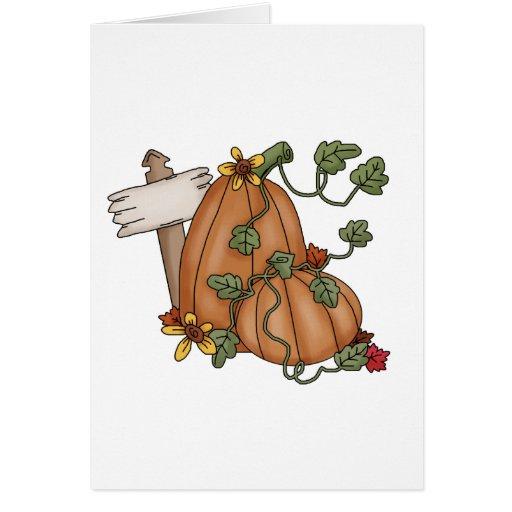 Espantapájaros del otoño · Calabazas Tarjeta De Felicitación