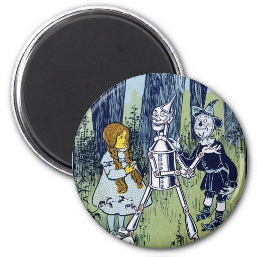 Espantapájaros del Woodsman de la lata de mago de Imán Redondo 5 Cm