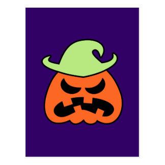 Espantapájaros enojado de Halloween Postales