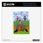 Espantapájaros que toca la guitarra skins para iPod touch 4G