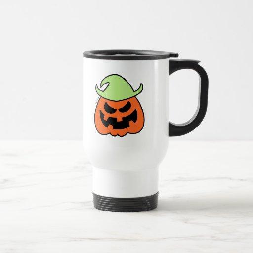 Espantapájaros travieso de Halloween Taza Térmica