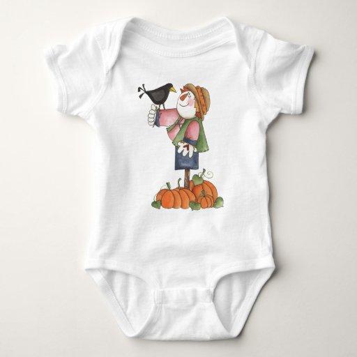 Espantapájaros y cuervo body para bebé