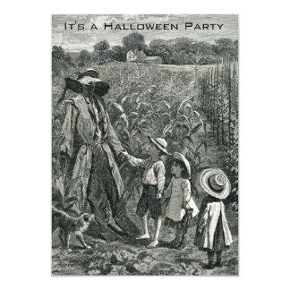 Espantapájaros y niños de Halloween del vintage Comunicados Personales